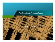 Data Analysis - Technology Foundations