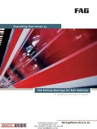 FAG Rolling Bearings for Rail Vehicles Everything that moves us