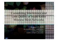 Considering Interference and Link Quality of Multi-radio Wireless ...
