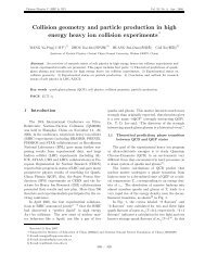 Collision geometry and particle production in high energy heavy ion ...