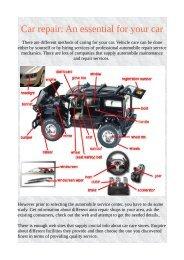 Car repair: An essential for your car