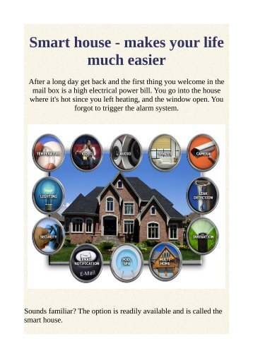 Smart house - makes your life much easier