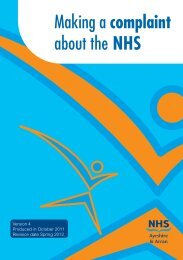 Making a complaint about the NHS - NHS Ayrshire and Arran.