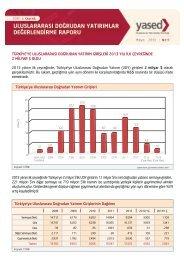 YASED Uluslararası Doğrudan Yatırımlar Değerlendirme Raporu