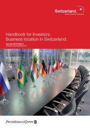 Handbook for Investors. Business location in Switzerland.