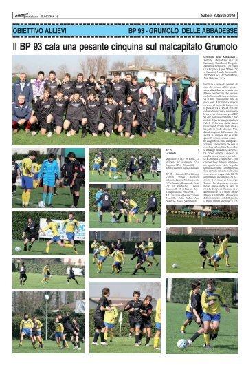 BP 93 - GRUMOLO - SPORTquotidiano