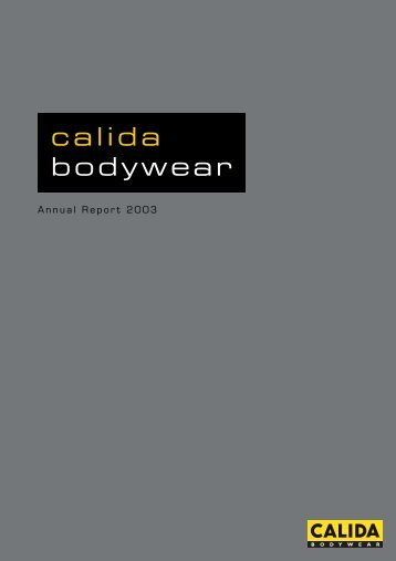 Annual Report 2003 - Calida