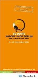 50 JAHRE - IMPORT SHOP BERLIN