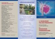 Infoflyer zur Themenwoche in Siegburg