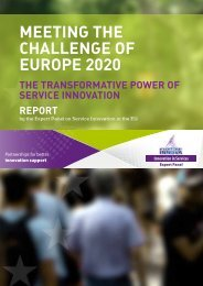 MEETING THE CHALLENGE OF EUROPE 2020