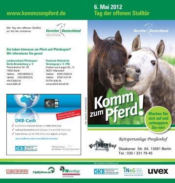 6. Mai 2012 Tag der offenen Stalltür www ... - Preußenhof
