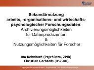 Gemeinsamer Workshop des DSZ-BO und des ZPID zur ...