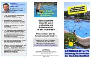 Flyer - Schwimmbad - Initiative