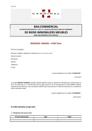 BAIL COMMERCIAL TYPE - CN2i