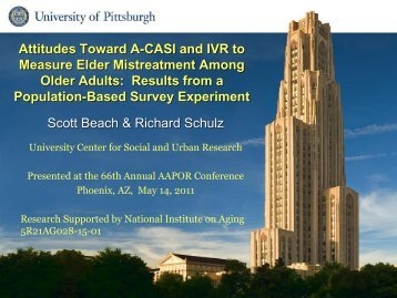 A- CASI - University Center for Social and Urban Research