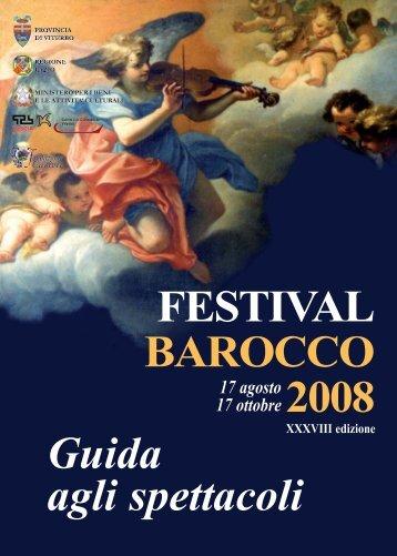 Festival Barocco 2008. Guida agli spettacoli - Provincia di Viterbo
