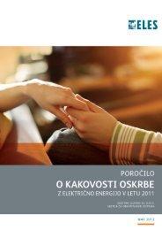Letno poročilo o kakovosti za leto 2011 - Elektro-Slovenija, doo