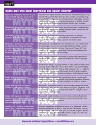 Myths and Facts about Depression and Bipolar Disorder (PDF)