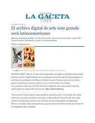 La Gaceta, 18 de enero de 2012 - Documents of 20th-Century Latin ...