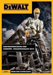 Elektrowerkzeuge und Zubehör - Gesamtkatalog 2014