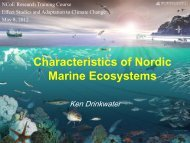 Characteristics of Nordic Marine Ecosystems - Nordic Centre for ...