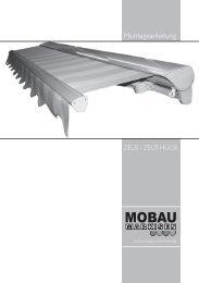 Montageanleitung - Mobau Markisen