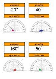 Treasure Hunt - measuring angles - Mr Barton Maths