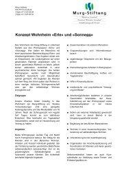 Konzept Wohnheim - Murg Stiftung