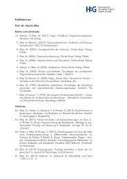 Publikationen Prof. Dr. Martin Elbe