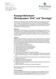 Konzept Wohnheim Wohngruppen