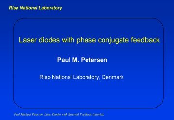 Laser diodes with phase conjugate feedback