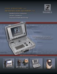Equipment for Imaging the Civil Infrastructure - Olson Instruments, Inc.