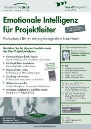 Emotionale Intelligenz für Projektleiter - Management Circle AG