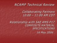 NCAMP Technical Review