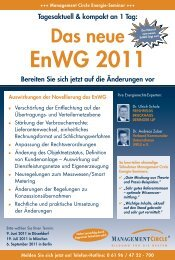 Seminar: Das neue Enwg 2011 - Management Circle AG