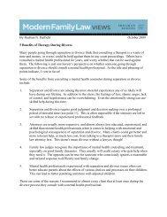 Modern Family Law Views - Shulman, Rogers, Gandal, Pordy ...