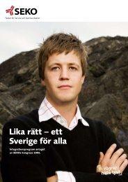 Lika rätt – ett Sverige för alla - Seko