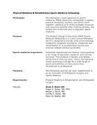 Physical Medicine & Rehabilitation Sports Medicine Fellowship