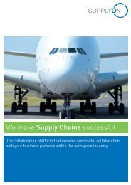 SupplyOn for the Aerospace Industry