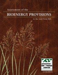 Bioenergy provisions in the 2008 Farm Bill