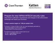 Prepare for new HIPAA-HITECH security rules - Katten Muchin ...