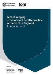 Record keeping audit- full report - Royal College of Physicians