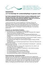 127 FLS-Beiträge für Landschaftspflege im ganzen Land - Fonds ...