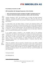 Press Release - IFM Immobilien AG