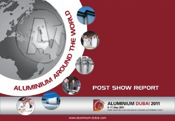 Post Show Report of the successful ALUMINIUM DUBAI 2011
