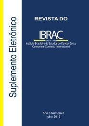 Suplemento da Revista do Ibrac 3 2012
