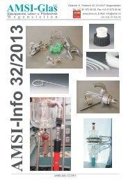 Info 32. KW 2013 - AMSI Glas AG, Glasapparate, Labor