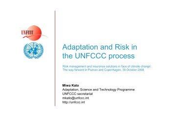 Miwa Kato (UNFCCC secretariat) - Insurance under the UNFCCC
