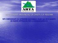 Siti contaminati di interesse nazionale fiumi Saline - ARTA Abruzzo
