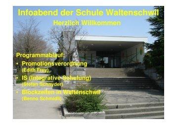 Infoabend der Schule Waltenschwil